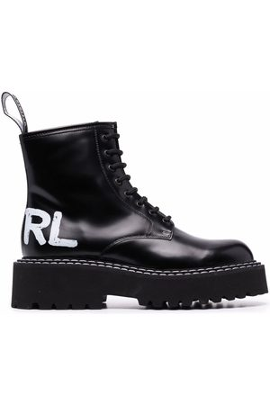 Karl Lagerfeld Logo-print lace-up boots