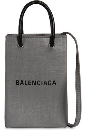 Balenciaga Naiset Ostoskassit - Logo Leather Tote Bag