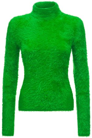 Stella McCartney Naiset Poolopaidat - Cotton Blend Knit Turtleneck Sweater