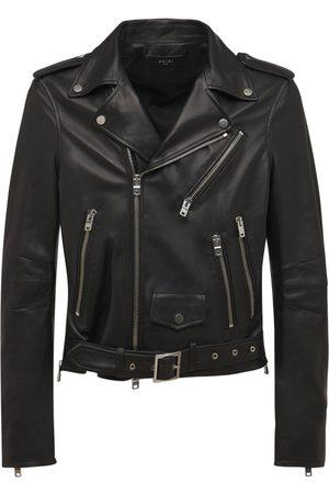 AMIRI Miehet Nahkatakit - Leather Biker Jacket