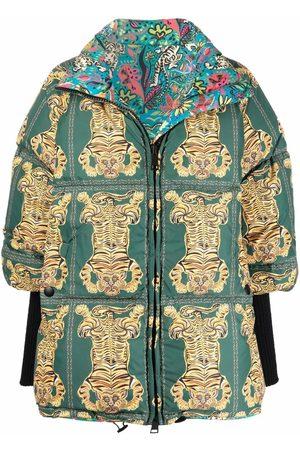 La DoubleJ Naiset Untuvatakit - St. Moritz tiger print puffer jacket