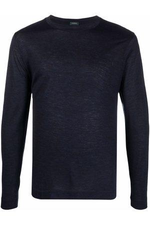 ZANONE Miehet T-paidat - Round neck long-sleeved T-shirt