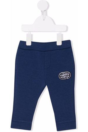Emporio Armani Housut - Embroidered track track pants