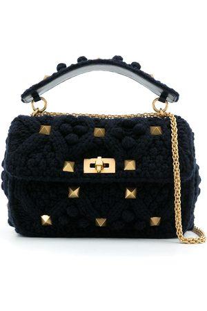 VALENTINO GARAVANI Naiset Ostoskassit - Rockstud knitted tote bag