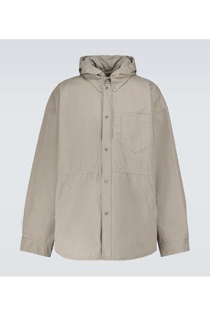 Balenciaga Hooded cotton overshirt