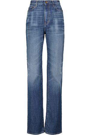 Saint Laurent High-rise straight cotton jeans