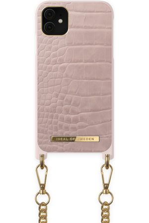 Ideal of sweden Naiset Puhelinkuoret - Necklace Case iPhone 11 Misty Rose Croco