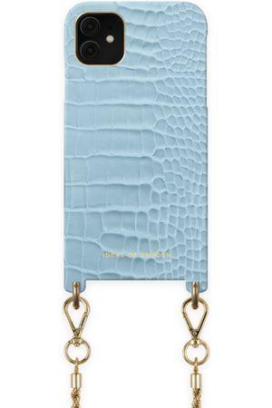 Ideal of sweden Atelier Necklace Case iPhone 11 Sky Blue Croco