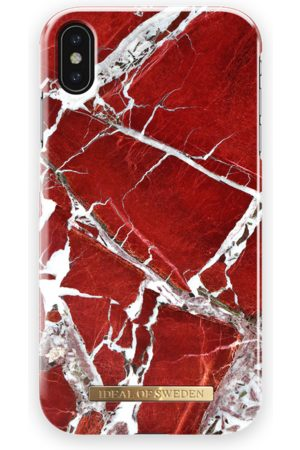 Ideal of sweden Fashion Case iPhone Xs Max Scarlet Red Marble