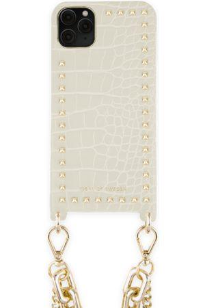 Ideal of sweden Statement Phone Necklace Case iPhone 11 Pro Max Beatstuds Cream Croco