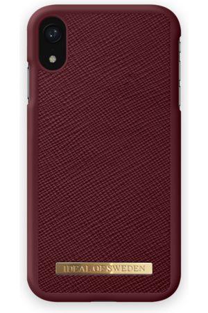 Ideal of sweden Saffiano Case iPhone XR Burgundy