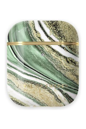 Ideal of sweden Fashion AirPods Case Cosmic Green Swirl