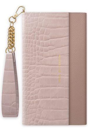 Ideal of sweden Signature Clutch iPhone 11 Misty Rose Croco