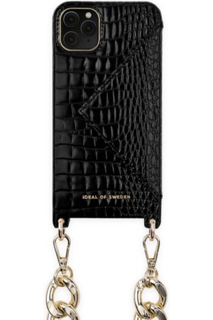 Ideal of sweden Necklace Case iPhone 11 PRO MAX Neo Noir Croco