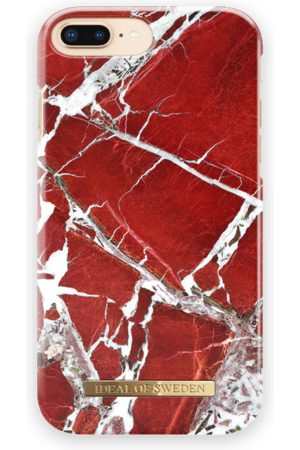 Ideal of sweden Fashion Case iPhone 8 Plus Scarlet Red Marble