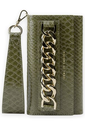 Ideal of sweden Studio Clutch iPhone 12 Pro Max Green Snake