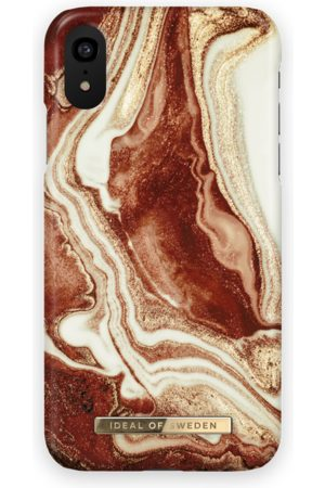 Ideal of sweden Fashion Case iPhone XR Golden rusty marble