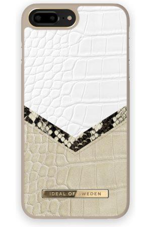 Ideal of sweden Atelier Case iPhone 8 Plus Dusty Cream Python