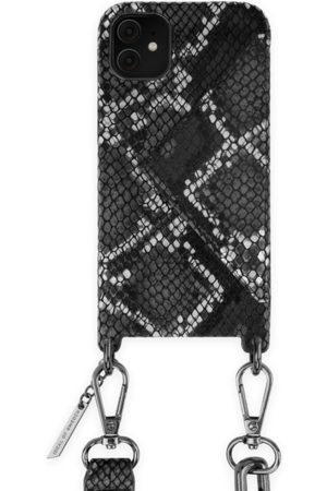 Ideal of sweden Statement Phone Necklace Case iPhone 11 Black Silver Snake
