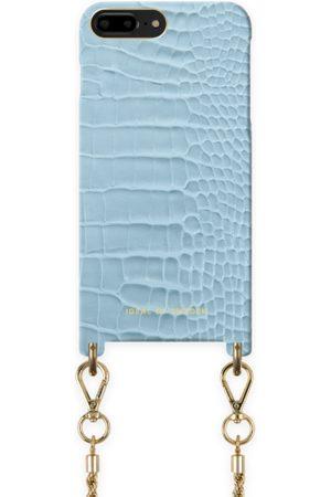Ideal of sweden Atelier Necklace Case iPhone 8 Plus Sky Blue Croco