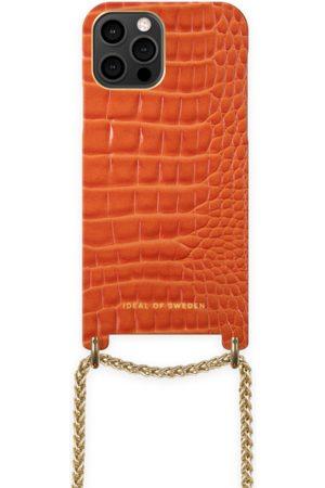 Ideal of sweden Lilou Necklace Case Orange Croco iPhone 12 Pro Max
