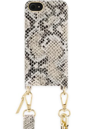 Ideal of sweden Statement Phone Necklace Case iPhone 8 Beige Shimmery Snake