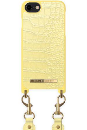 Ideal of sweden Necklace Case Montazami iPhone SE 2020 Lemon Croco