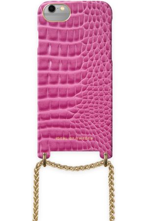 Ideal of sweden Lilou Necklace Case Fuchsia Croco iPhone 6/6S