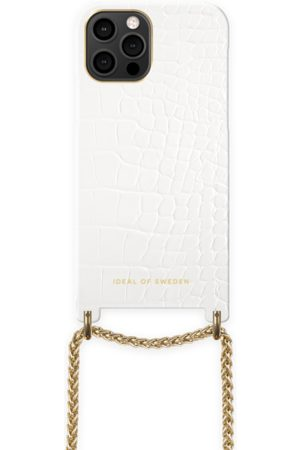 Ideal of sweden Lilou Necklace Case White Croco iPhone 12 Pro Max