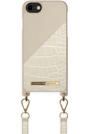 Ideal of sweden Atelier Phone Necklace Case iPhone 8 Cream Beige Croco