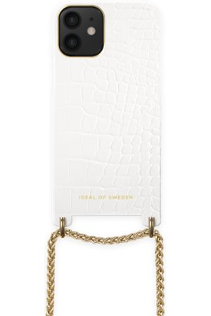 Ideal of sweden Lilou Necklace Case White Croco iPhone 12 Mini