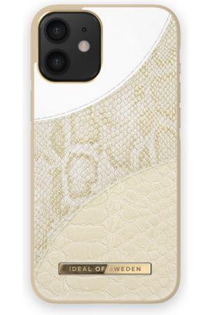 Ideal of sweden Atelier Case iPhone 12 Mini Cream Gold Snake