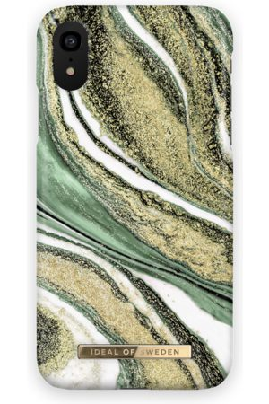 Ideal of sweden Fashion Case iPhone XR Cosmic Green Swirl