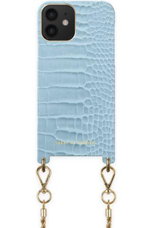 Ideal of sweden Atelier Necklace Case iPhone 12 Sky Blue Croco