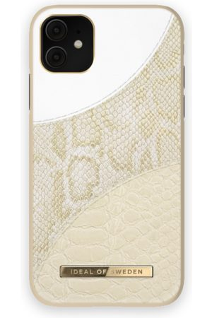 Ideal of sweden Atelier Case iPhone 11 Cream Gold Snake