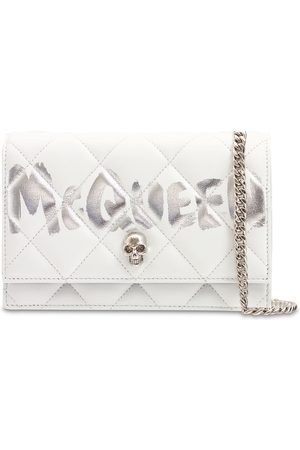Alexander McQueen Small Skull Graffiti Quilted Leather Bag