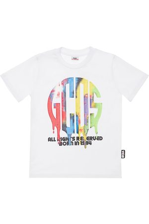 GCDS Pojat T-paidat - Rubberized Logo Cotton Jersey T-shirt