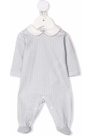 Emporio Armani Vauvat Bodyt - Jacquard-logo cotton babygrow