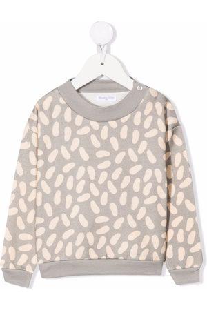 Studio Clay Collegepaidat - Beans-pattern crewneck sweater