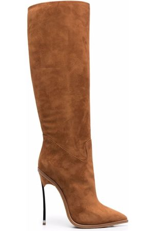 Casadei Naiset Ylipolvensaappaat - Suede knee-high boots