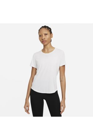 Nike Dri-FIT One Luxe Women's Standard Fit Short-Sleeve Top - White