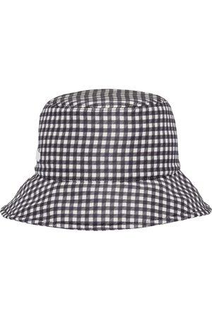 Miu Miu Naiset Hatut - Gingham-pattern bucket hat