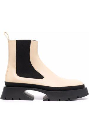 Jil Sander Naiset Nilkkurit - Two-tone Chelsea boots