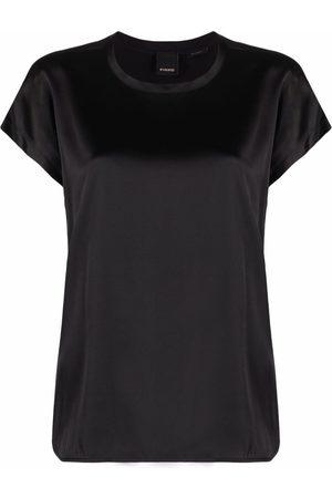 Pinko Naiset T-paidat - Round-neck short-sleeve T-shirt