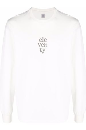 ELEVENTY Logo-embroidered long-sleeved T-shirt