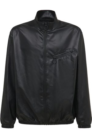 OPENING CEREMONY Faux Leather Track Jacket
