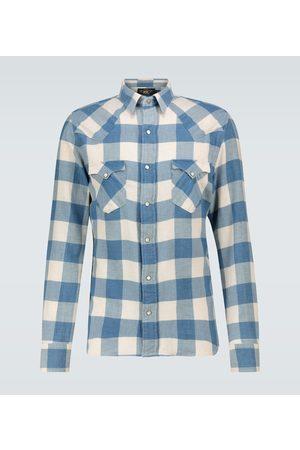RRL Cotton-linen checked flannel shirt