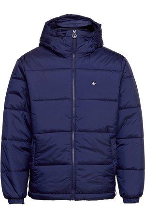 adidas Miehet Talvitakit - Padded Hooded Puffer Jacket Vuorillinen Takki Topattu Takki Sininen