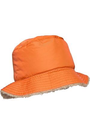 YVES SALOMON Naiset Hatut - Hat Wool/Technical Fabric Accessories Headwear Bucket Hats Oranssi