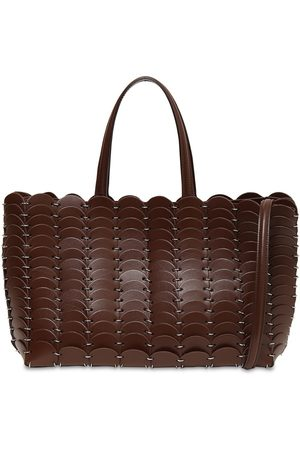 Paco rabanne Pacoio Patent & Matte Leather Tote Bag